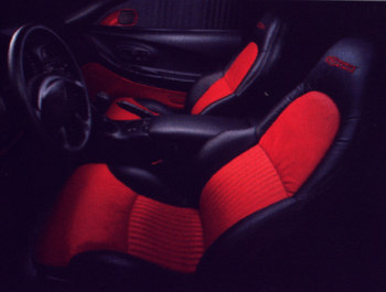 z06 red / black interior
